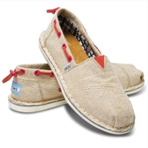 Toms Canvas Drawstring Shoes - Size 5.5